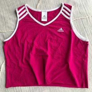 Super cute Adidas raw hem tank!